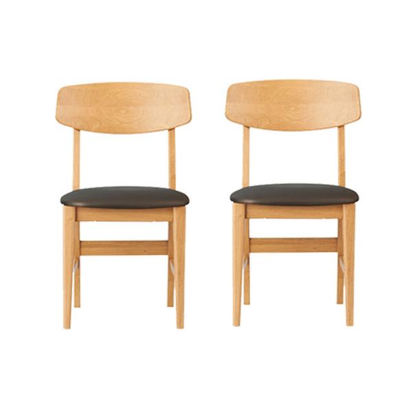 ラーコムチェア 大人用 2個セット ブラック ウォルナット 木製チェア 椅子 学習椅子 HCA-794 SKBK HCA-794 WT コイズミ【あす楽対応】【送料無料】【int_d11】