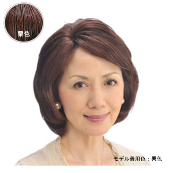 おしゃれヘアピース HPN-150A栗色