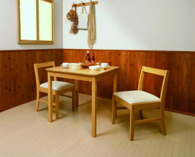 ダイニング3点セット ETT-7575 ダイニング ダイニングセット 天然木 木製 ダイニングテーブルセット 食卓 ダイニングテーブル(代引不可)【送料無料】