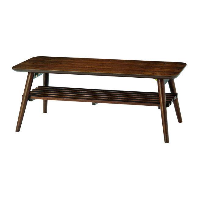 slan センターテーブル SLA-1045 センターテーブル 折り畳み 木製 カフェテーブル リビングテーブル(代引不可)【送料無料】【int_d11】