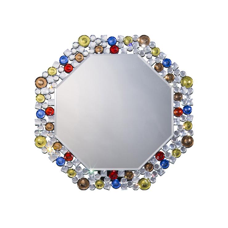 鏡 壁掛け 卓上 2way ミラー クロシオ 八角ミラー カラフル ミラー(代引不可)【送料無料】