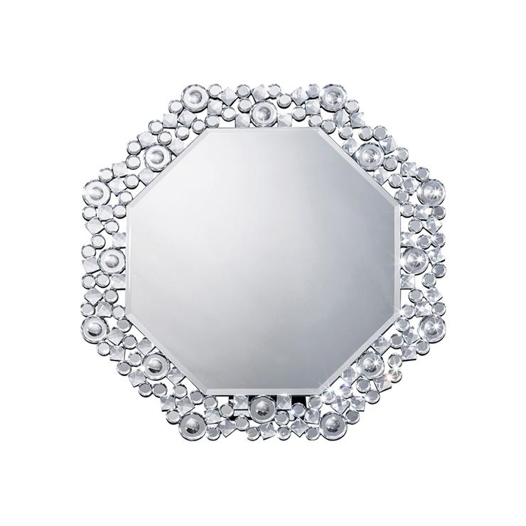 鏡 壁掛け 卓上 2way ミラー クロシオ 八角ミラー クリスタル ミラー(代引不可)【送料無料】
