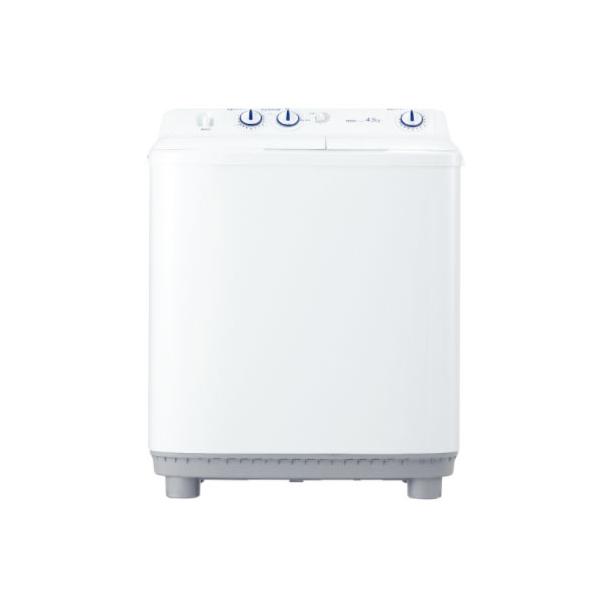 ハイアール 二槽式洗濯機 4.5kg JW-W45E-W ホワイト(代引不可)【送料無料】