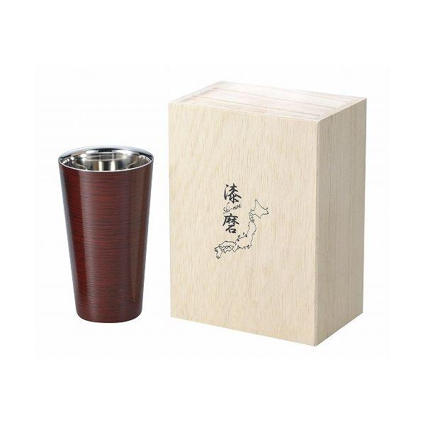アサヒ こだわりの極み 食楽工房 2重ストレートカップ根来塗り SCW-L702【送料無料】