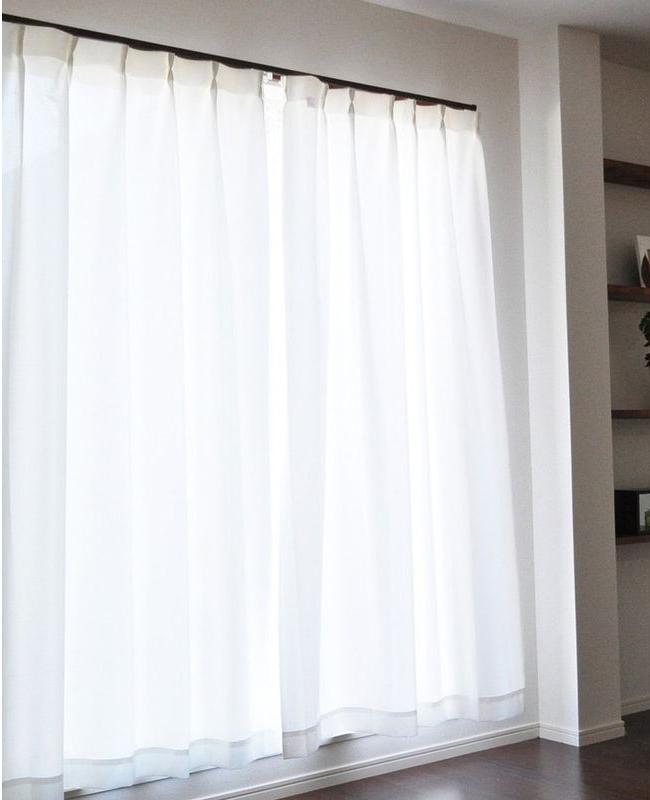 レースカーテン 150×248cm丈 2枚組 遮光 断熱 UVカットウォッシャブル 保温 遮像 国産 日本製 エアロカプセル ホワイト(代引不可)【送料無料】