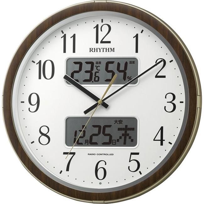 リズム フィットウェーブリブDX 掛時計 4FYA09SR18(代引不可)