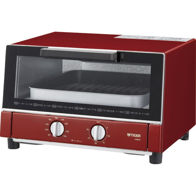 タイガー やきたて オーブントースター 電気調理器具 KAM-G130R(代引不可)【inte_D1806】