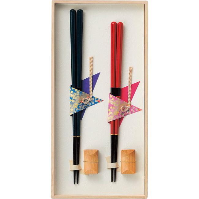 兵左衛門 八角箸 夫婦箸セット 金属食器 104-505(代引不可)
