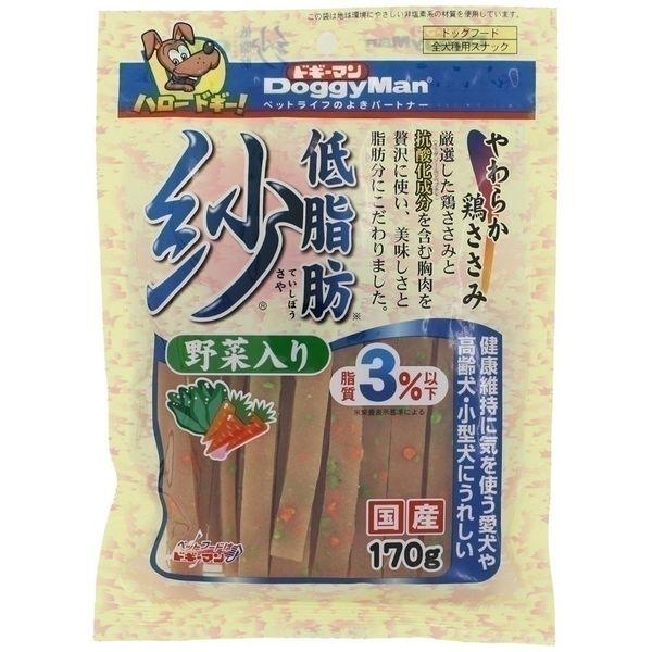 ドギーマンハヤシ 食品事業部 低脂肪紗 野菜入り 170g【ポイント10倍】