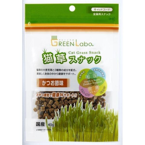 エイム クリエイツ Green labo猫草スナックかつお節味【ポイント10倍】