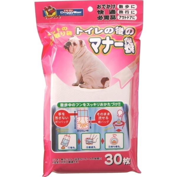 ドギーマンハヤシ 用品事業部 トイレの後のマナー袋 30枚【ポイント10倍】