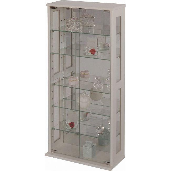 ガラスラック 大 IV ワイド フィギュア ディスプレイ ガラスケース 収納 透明 コレクションラック ガラスラック100cm(代引不可)【送料無料】【int_d11】