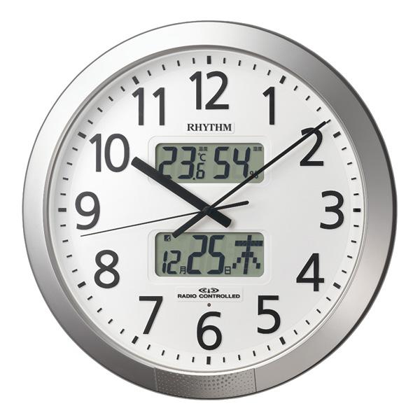 リズム RHYTHM オフィスタイプ プログラムカレンダー404R 掛け時計 4FN404SR19