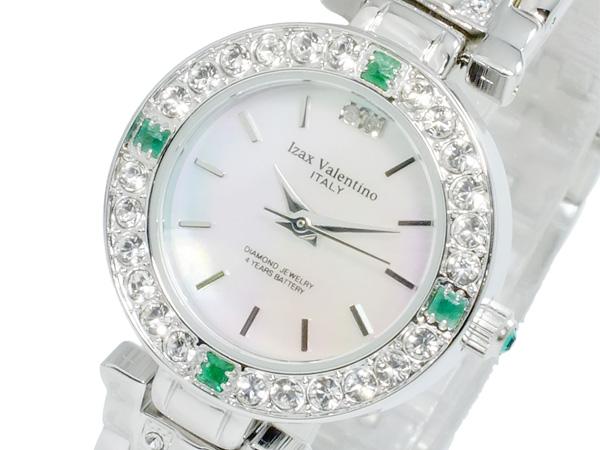 アイザック バレンチノ IZAX VALENTINO クオーツ レディース 天然エメラルド 腕時計 時計 IVL-9100-3