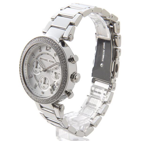 マイケルコース パーカー クオーツ レディース クロノ 腕時計 時計 MK5353 シルバー