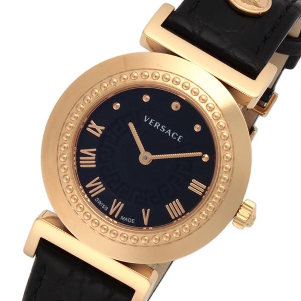 ヴェルサーチ ヴァニティ クオーツ レディース 腕時計 P5Q80D009S009 ブラック【送料無料】