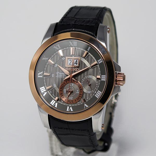 セイコー プルミエ パーペチュアル クオーツ メンズ 腕時計 SNP114P2 グレー【ポイント10倍】