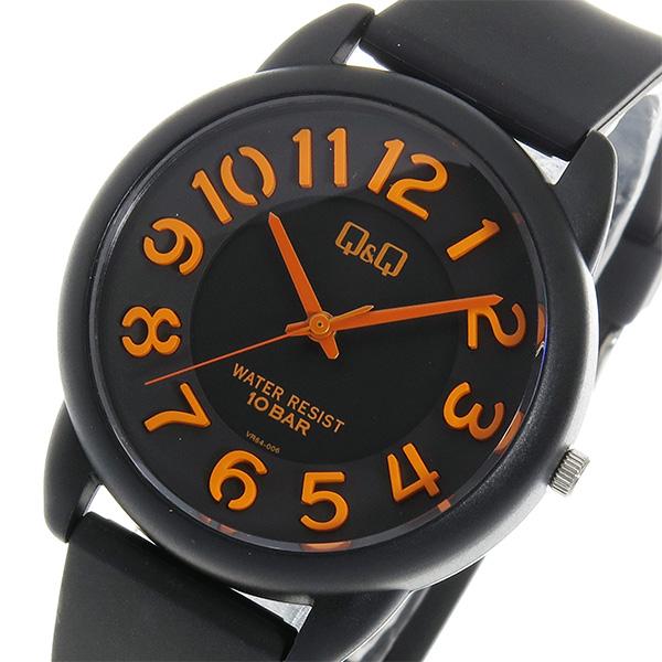 シチズン キューアンドキュー クオーツ ユニセックス 腕時計 時計 VR64-006 ブラック【ポイント10倍】【楽ギフ_包装】【inte_D1806】