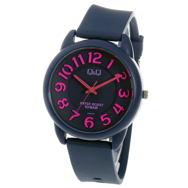 シチズン キューアンドキュー クオーツ ユニセックス 腕時計 時計 VR68-004 ネイビー【ポイント10倍】【楽ギフ_包装】【inte_D1806】