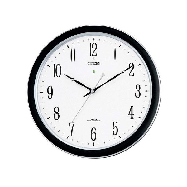 リズム RHYTHM ネムリーナ 電波 掛け時計 4MY691-N19 ブラック