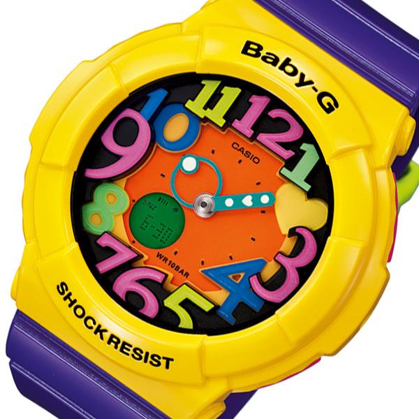 カシオ ベビーG クレイジーネオンシリーズ レディース 腕時計 時計 BGA-131-9B パープル