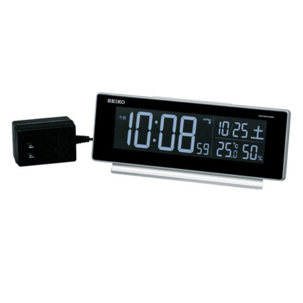 セイコー SEIKO 電波交流式デジタル・目覚まし時計 DL207S シルバー