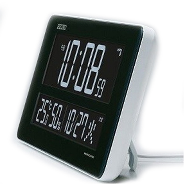 セイコー SEIKO 電波交流式デジタル 目覚まし時計 DL208W ブラック