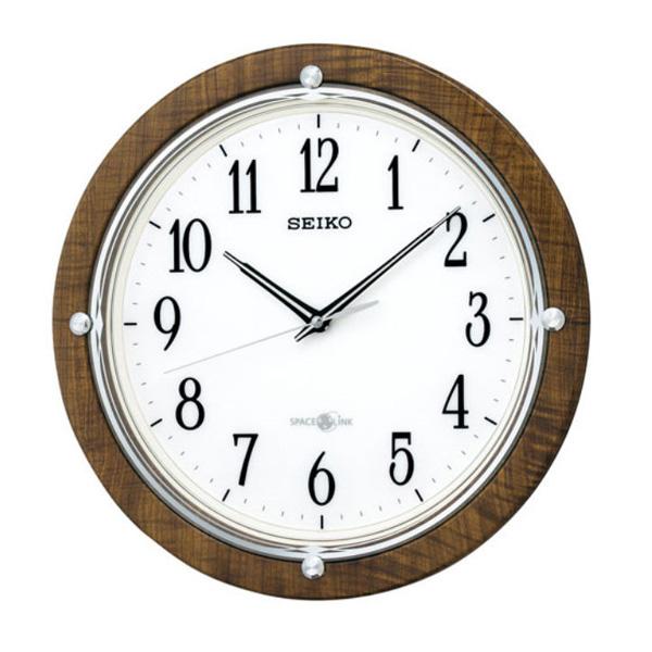 セイコー SEIKO 衛星電波時計 スペースリンク 掛け時計 GP212B ブラウン