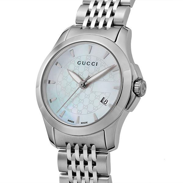 グッチ GUCCI Gタイムレス クオーツ レディース 腕時計 YA126533 ホワイトパール【】【ポイント10倍】【楽ギフ_包装】