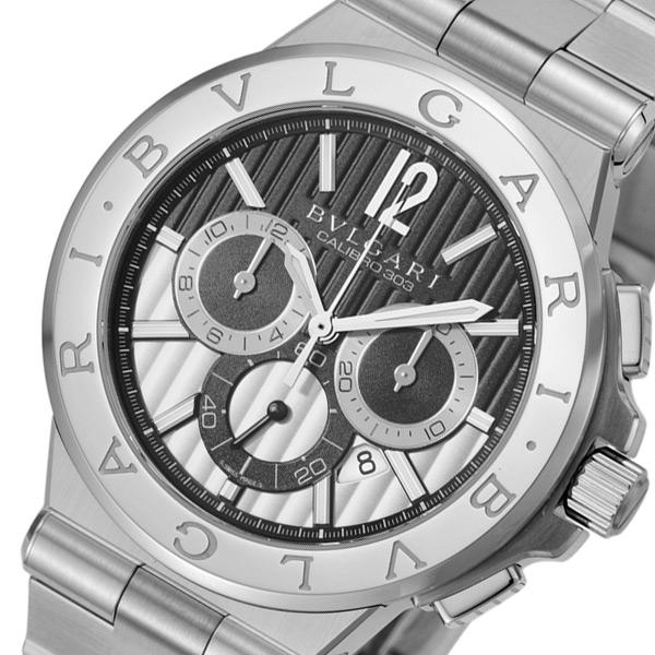 ブルガリ ディアゴノ カリブロ304 クロノ 自動巻き メンズ 腕時計 DG42BSSDCH【送料無料】【S1】