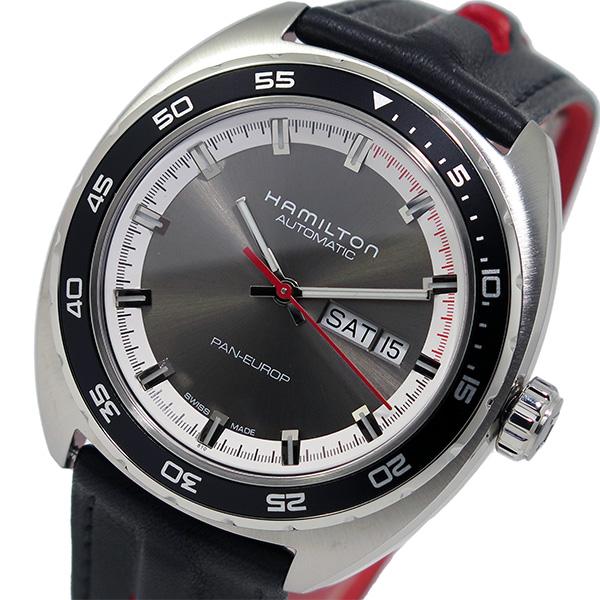 ハミルトン パンユーロ 自動巻き 替えベルト付 メンズ 腕時計 H35415781 シルバー【送料無料】【ポイント10倍】