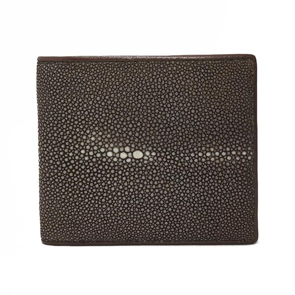 スティングレイ ポリッシュ 二つ折り短財布 SJSK-E1563-BR ブラウン