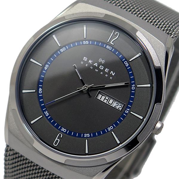 卓出 ラッピング無料 スカーゲン SKAGEN クオーツ 舗 メンズ 腕時計 グレー 時計 SKW6078