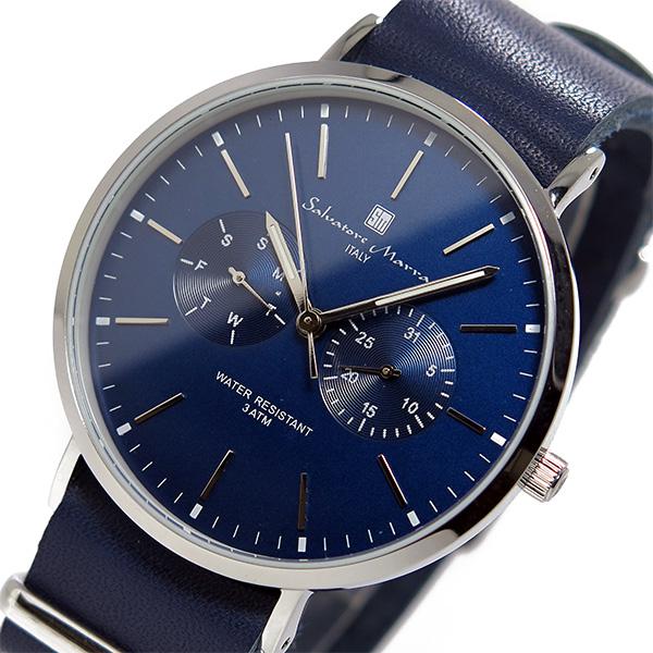サルバトーレ マーラ クオーツ ユニセックス 腕時計 時計 SM15117-SSNVSV ネイビー