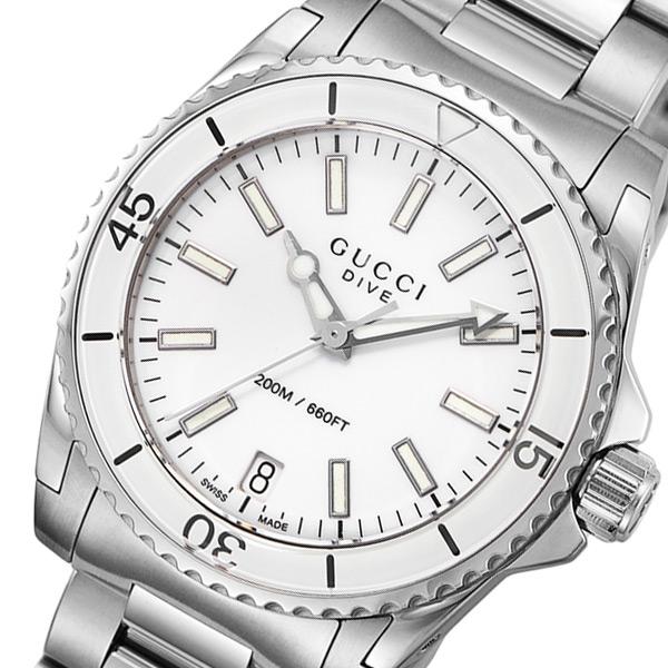 グッチ GUCCI ダイヴ DIVE クオーツ ユニセックス 腕時計 YA136402 ホワイト【】【ポイント10倍】【楽ギフ_包装】