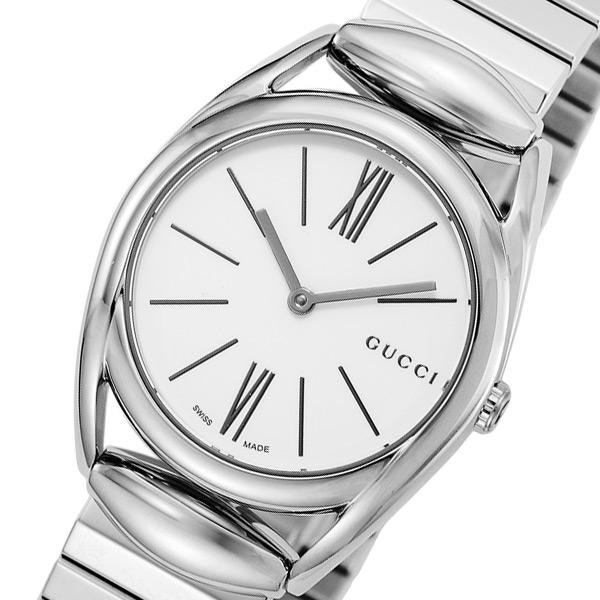 グッチ GUCCI ホースビット クオーツ レディース 腕時計 YA140505 ホワイト【送料無料】:リコメン堂