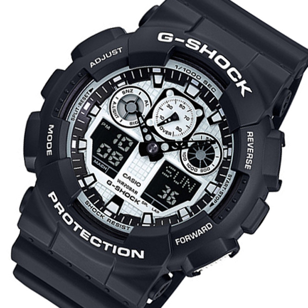カシオ CASIO Gショック コンビネーション クオーツ メンズ 腕時計 時計 GA 100BW 1AqSVUMpz