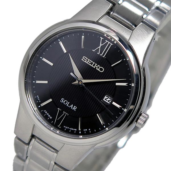 いいスタイル セイコー SEIKO ソーラー クオーツ レディース 腕時計 時計 SUT229P1 ブラック, 家具達 -kagula- 15258bd9