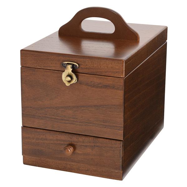 木製コスメティックボックス 収納ケース 日本製 メイクボックス 017513 ブラウン