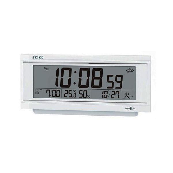セイコー SEIKO 衛星電波目覚まし時計 GP501W ホワイト