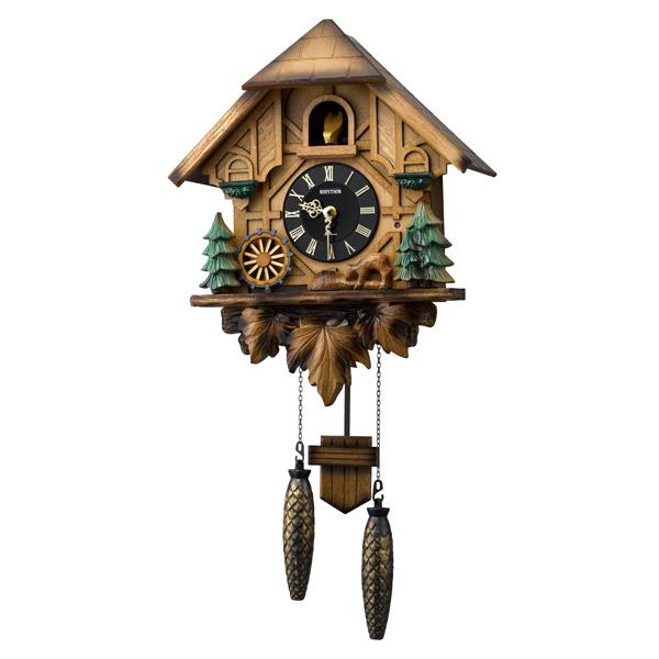 リズム RHYTHM 掛け時計 鳩時計 カッコーティンバー 4MJ423SR06
