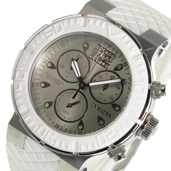 インヴィクタ INVICTA クオーツ クロノ レディース 腕時計 時計 90278 シルバー【ポイント10倍】【楽ギフ_包装】