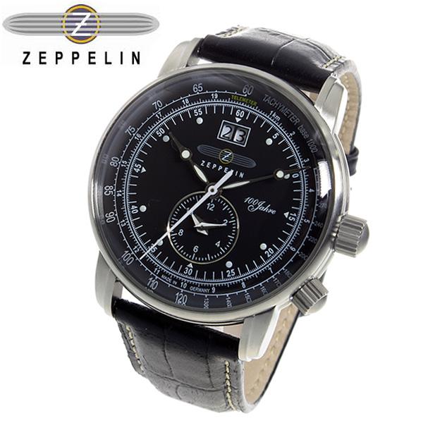 ツェッペリン 100周年 記念モデル LZ1 クオーツ メンズ 腕時計 時計 7640-2 ブラック
