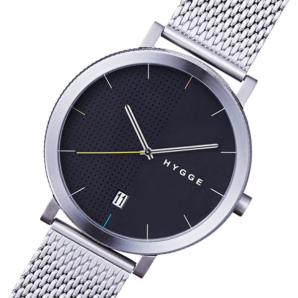 ピーオーエス POS ヒュッゲ 2203 クオーツ メンズ 腕時計 時計 MSM2203C(CH) シルバー