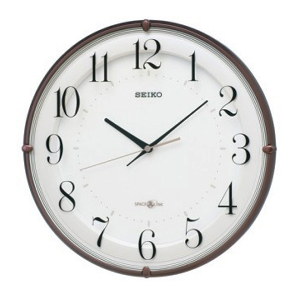 セイコー SEIKO 衛星電波クロック 掛け時計 GP216B ホワイト