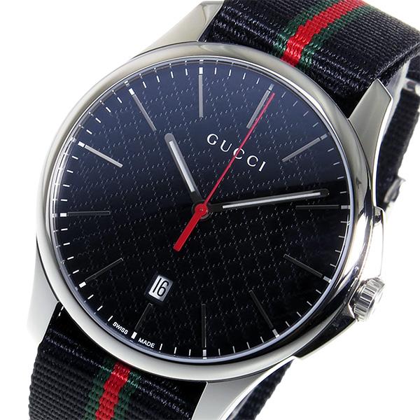 グッチ GUCCI Gタイムレス クオーツ ユニセックス 腕時計 YA126321 ブラック【送料無料】【ポイント10倍】
