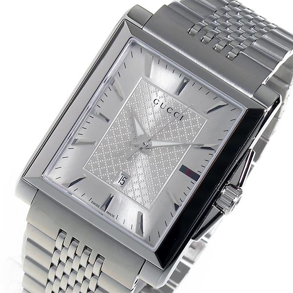 グッチ GUCCI レクタングル クオーツ メンズ 腕時計 YA138403 シルバー 送料無料 クリスマス 就職祝お花見 特典 通販 48時間限定ポイント 月末バーゲンセール