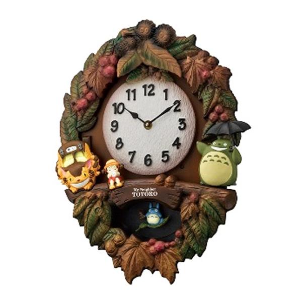 リズム RHYTHM 掛け時計 ジブリ トトロM429 4MJ429-M06 ブラウン【inte_D1806】