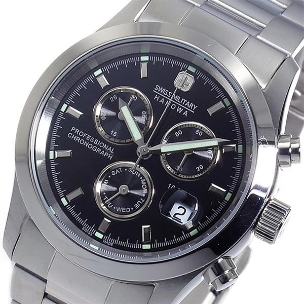 スイスミリタリー SWISS MILITARY クロノ クオーツ メンズ 腕時計 時計 ML-244 ブラック【ポイント10倍】