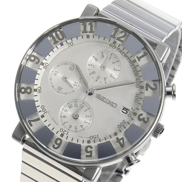 セイコー スピリット SEIKO×SOTTSASS クロノ メンズ 腕時計 時計 SCEB035 ホワイト【ポイント10倍】
